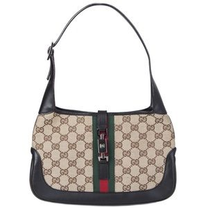 🔥GUCCI JACKIE O CANVAS MINI BAG-PERFECT-DUST BAG